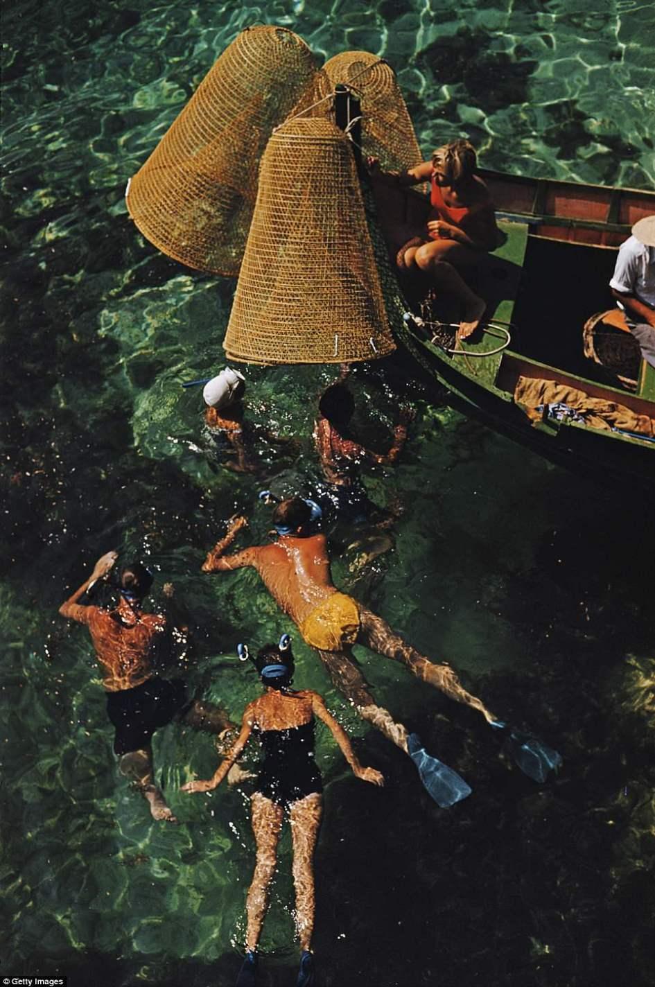 Slim Aarons, 'Diving In: Snorkeling in Malta' (Slim Aarons Estate Edition)