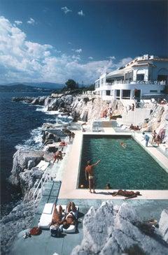 Hotel du Cap Eden Roc Pool - Slim Aarons, 20th Century, Riviera, Sea, Landscape