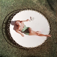 Esther Williams, Estate Edition Photograph of Vintage Glamour (Green and White)