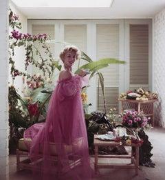 Eva Gabor, Estate Edition Photograph, Midcentury Classic Hollywood, Vintage Pink