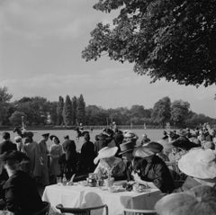 'French Polo Crowd' 1950 Slim Aarons Limited Edition Estate Print- Oversize