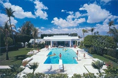 Goodman's Pool - Slim Aarons, 20th Century, Sky, Architecture, Hollywood, Clouds