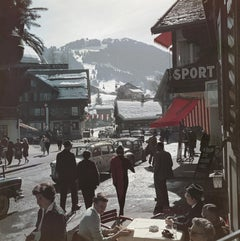 """Gstaad Town Centre"" by Slim Aarons, NEW, Estate Stamped, Limited Edition"