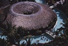 Hilton Pool Bar - Slim Aarons, 20th century, Acapulco, Poolside, Palm trees