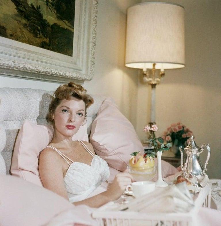Slim Aarons Color Photograph - Julie London (Aarons Estate Print)
