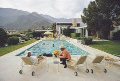 Kaufmann Desert House Party - Slim Aarons, 20th century, Poolside, Glamour