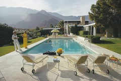 Palm Springs Pool - Slim Aarons, 20th century, Mountains, Landscape Photograph