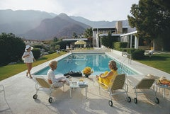 Catch Up by the Pool - Slim Aarons, 20th century, Poolside, Gossip, Palm Springs