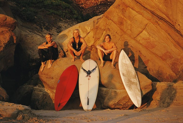 Laguna Beach Surfers - Slim Aarons - colour C print photography - 20th century - Photograph by Slim Aarons