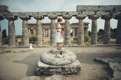 Laura Hawk at Paestum - Slim Aarons, 20th century, Greece, Fashion photography