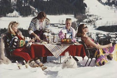 Luxury in the Snow (Slim Aarons, 20th Century, Mountain Views, Portrait)