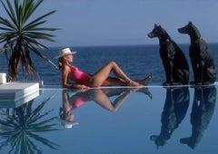 Marbella Pool, 1985 (Slim Aarons, 20th Century, Portrait, Animals, Nature)