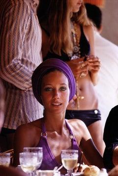 Marisa Berenson - Slim Aarons, 20th century, Purple, Model, Fashion photography