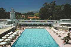 'Monte Carlo Pool' 1975 Slim Aarons Limited Edition Estate Stamped Print