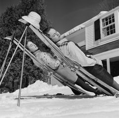 New England Skiing (1955) - Limited Estate Stamped - Silver Gelatin Fibre Print