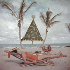 Palm Beach Idyll - Slim Aarons, 20th Century, Palm trees, Nude, Luxury, Style