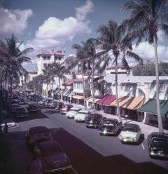 Palm Beach Street - Slim Aarons, 20th Century, Vintage, Classic cars, Palm trees