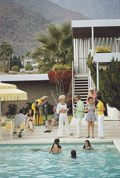 Party on the Steps, Estate Edition Photograph, Palm Springs Poolside series