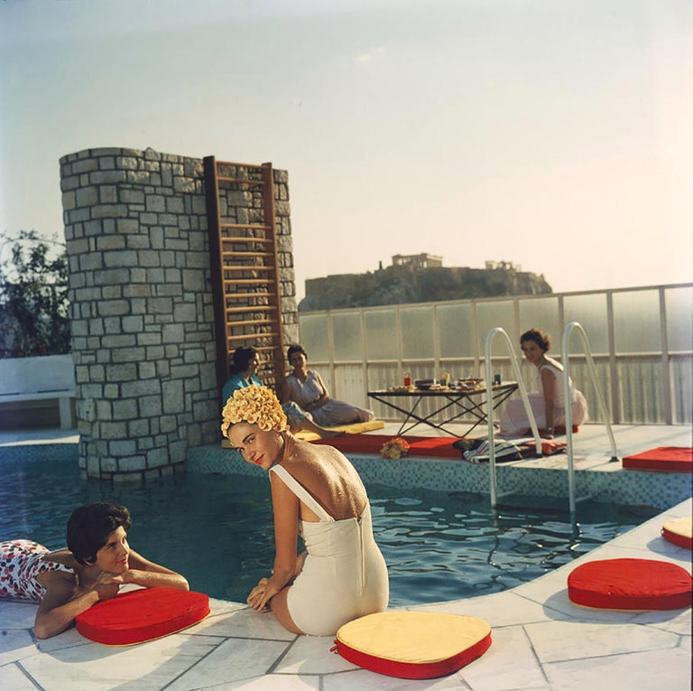 Penthouse Pool, (Slim Aarons Estate Edition) - Photograph by Slim Aarons
