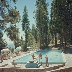 Pool at Lake Tahoe - Slim Aarons, 20th Century, Photograph, Sunlight, Swimming