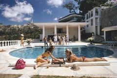 Poolside Backgammon - Slim Aarons, 20th Century, Villa, Pool, Games, Luxe
