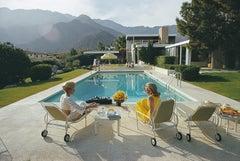 'Poolside Pairs' Slim Aarons Limited Edition Estate Stamped Print
