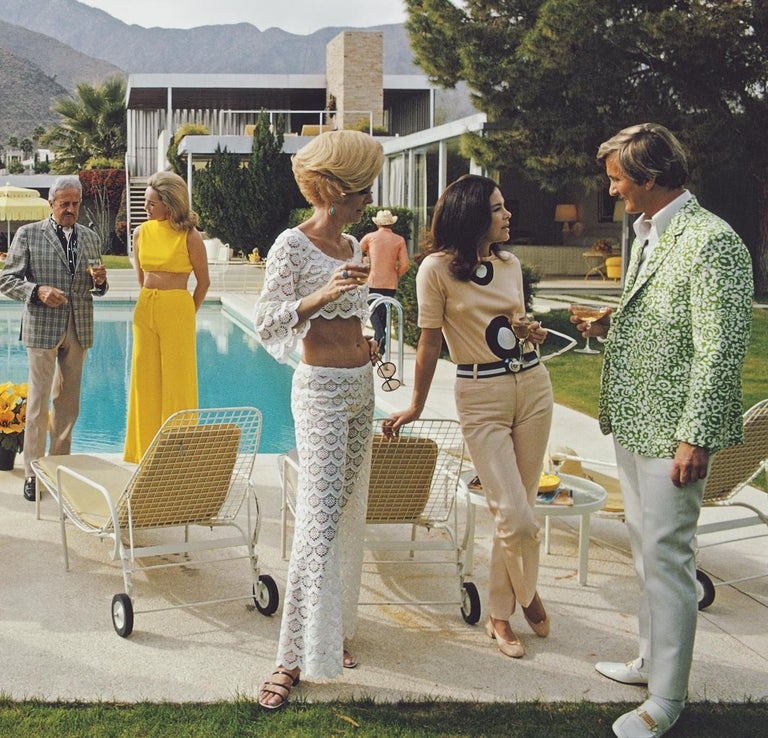 Poolside Party  - Slim Aarons - Estate Edition - Modern Photograph by Slim Aarons