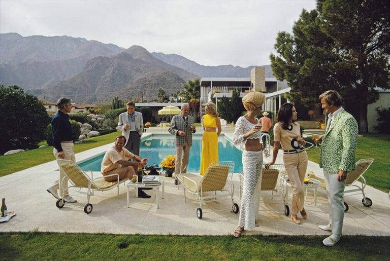 Poolside Party  - Slim Aarons - Estate Edition - Photograph by Slim Aarons
