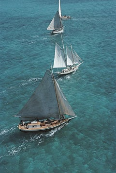 Sailing in the Bahamas - Slim Aarons, 20th century, Yacht, Glamour, Luxury