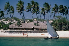 Sailing, The Lure of Lamu - Slim Aarons, 20th century, Island, Glamour, Palm
