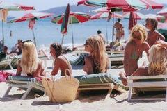 Saint Tropez Beach (Slim Aarons, 20th Century, Sunbathing, Beach, Nude)