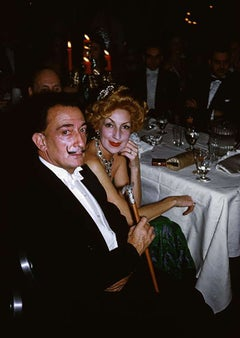 Salvador Dali's Party, Estate Edition Photograph [Surrealist Dinner, Green+Red]