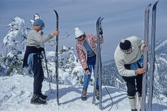 Skiers on the Slopes of Sugarbush - Slim Aarons, 20th century, Winter photograph