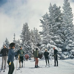 Skiing in Vail - Slim Aarons, 20th century, Skiers, Winter, Colorado, Snow