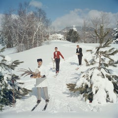 """Skiing Waiters"" By Slim Aarons, Estate Stamped Limited Edition, Multiple Sizes"