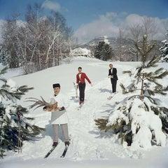 Skiing Waiters by Slim Aarons