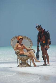 Slim Aarons 'A Friendly Chat, Bahamas' (Slim Aarons Estate Edition)