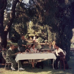 Slim Aarons - Al Fresco Tea - Estate Stamped