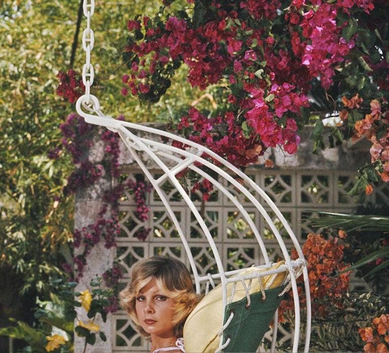 Slim Aarons, Barbados Bliss (Ava Marshall, Slim Aarons Estate Edition) - American Realist Photograph by Slim Aarons