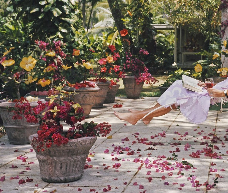 Slim Aarons, Barbados Bliss (Ava Marshall, Slim Aarons Estate Edition) - Black Color Photograph by Slim Aarons