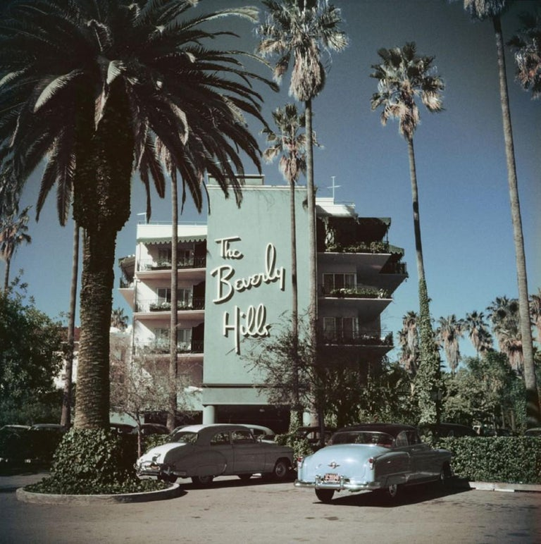 Slim Aarons - Beverly Hills Hotel - Estate Stamped  - Photograph by Slim Aarons