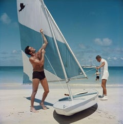 Slim Aarons - Boating in antigua - Estate Stamped