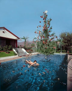 Slim Aarons Christmas Swim, 1954, (Estate Stamped Edition)