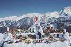 Slim Aarons, Courchevel Mountain Buffet (Estate Edition)