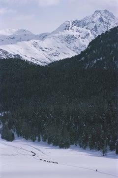 Slim Aarons, Crossing Snow Field