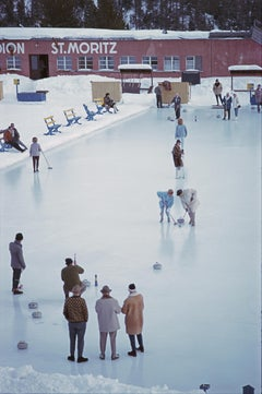 Slim Aarons, Curling At St. Moritz