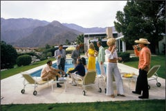 Slim Aarons Desert House Party, 1970 Estate Stamped Print
