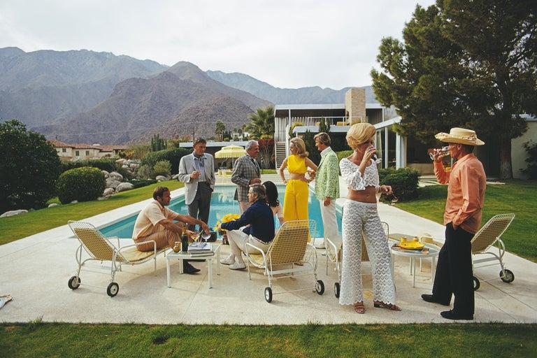 Slim Aarons 'Desert House Party' (Poolside Series, Slim Aarons Estate Edition) - Photograph by Slim Aarons