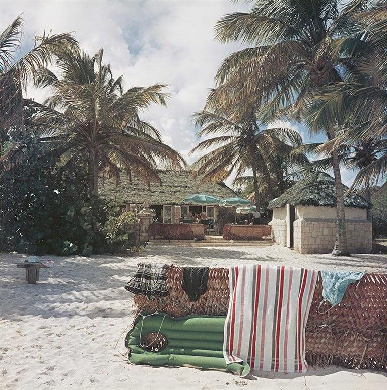 Slim Aarons Estate Edition - Antigua Beach Club - Photograph by Slim Aarons