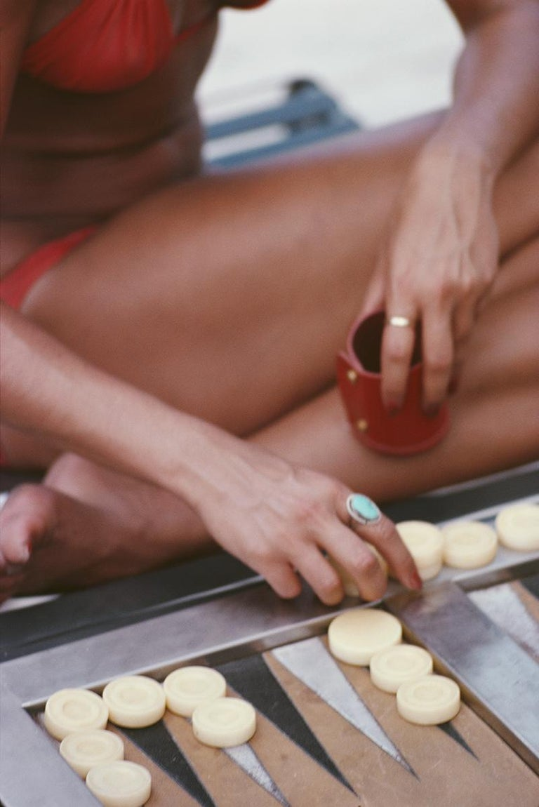 Slim Aarons Estate Edition - Backgammon In Haiti - Photograph by Slim Aarons